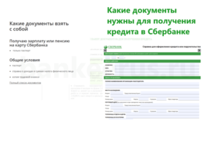 sberbank-credit-standard-documents-package